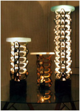 Variations on the theme - hex lamps, granite and glass