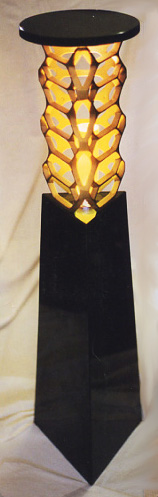Hex Bronze Lamp with gold light effect