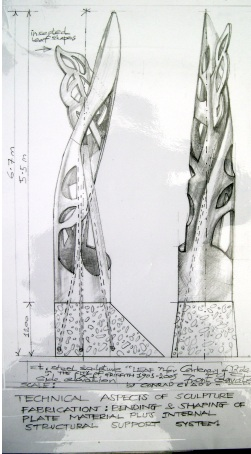 "Drawings for ""Unfurling Leaf"" proposal"